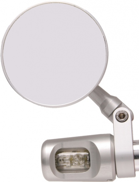 Oberon Performance 75mm Round Mirror With Bar End Indicators