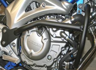 Suzuki SFV650 Gladius Black Renntec Engine Crash Bars