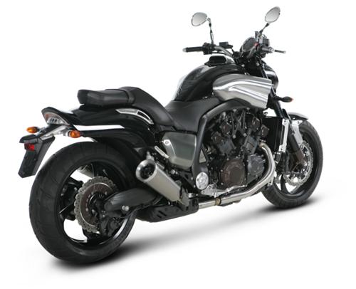 Yamaha Vmax 1700 09-14 Akrapovic Titanium Round Exhausts