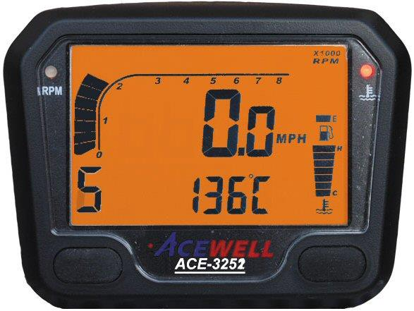 Acewell ACE-3252 Speedo Rev Gauge