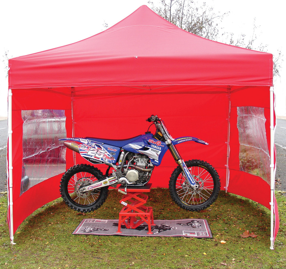 Bike It Quick-Up Awning 3m x 3m With 4 Side Walls - Red