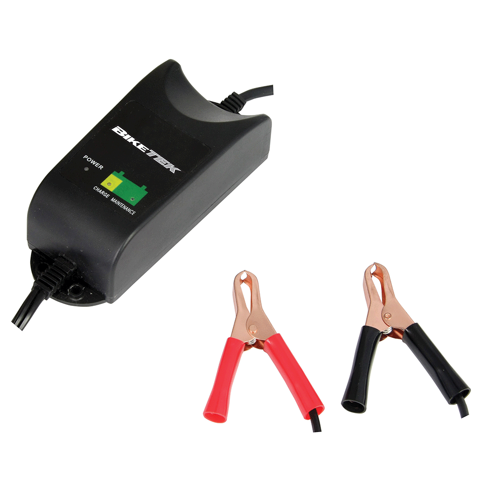 BikeTek 12V 1A 9 Stage Motorcycle Battery Charger With UK Plug