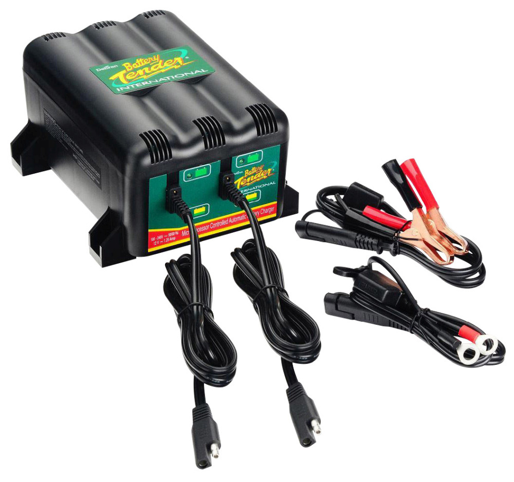Motorcycle Battery Tender 1.25A 2 Bank Battery Charger