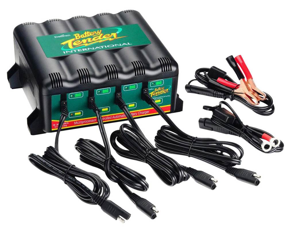 Motorcycle Battery Tender 1.25A 4 Bank Battery Charger