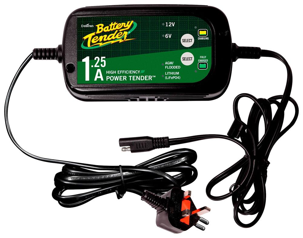 Motorcycle Battery Tender Power Tender Dual Selectable 1.25A Battery Charger