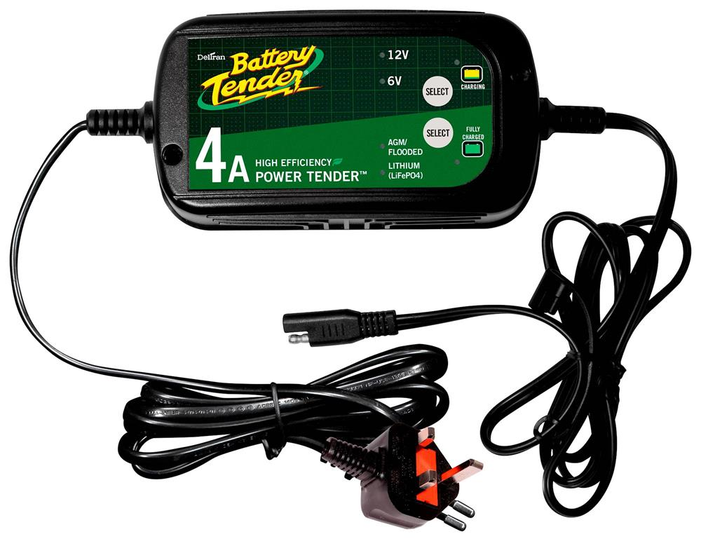 Motorcycle Battery Tender Power Tender Dual Selectable 4A Battery Charger