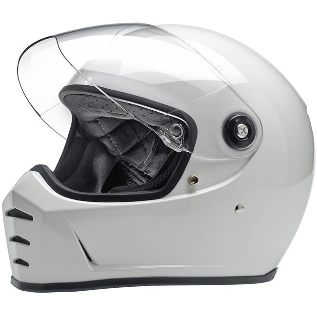 Biltwell Lane Splitter Helmet ECE - Gloss White