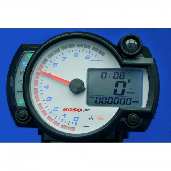 Koso Rx-2n  10k White Multifunction Gauge Speedo