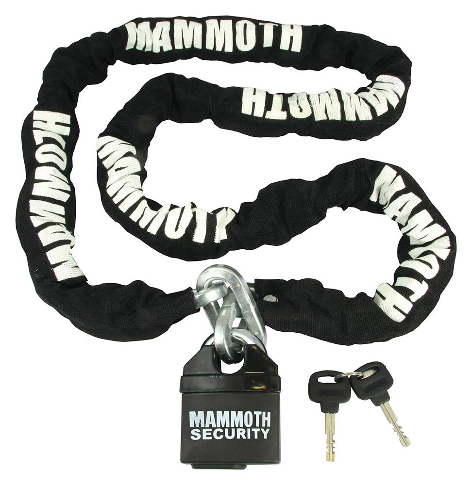 Mammoth 10mm Square Lock & Chain For Motorcycles