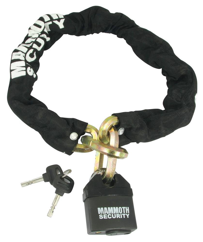Mammoth 12mm Hexagon Lock & Chain - 1m Length For Motorcycles