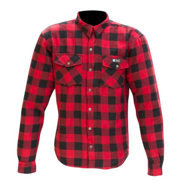 Merlin AXE Checkered Red and Black Kevlar Shirt