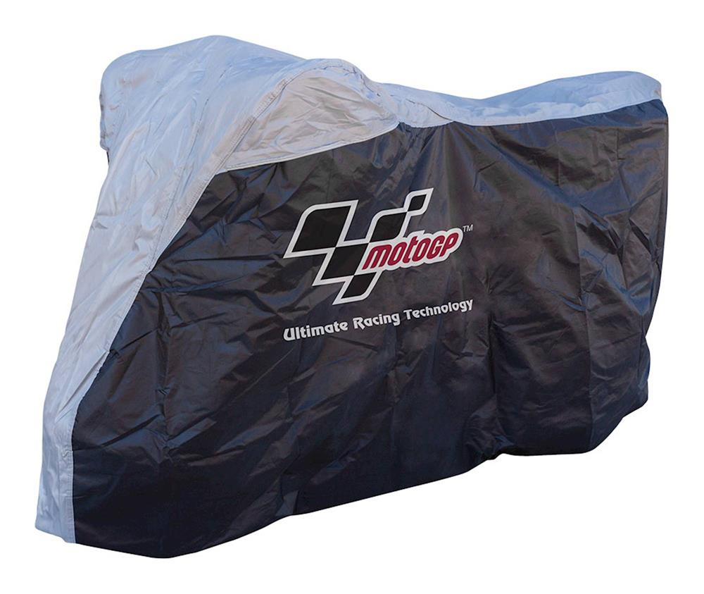 MotoGP Motorcycle Rain Cover - Black/Grey - Large Fits 750-1000cc