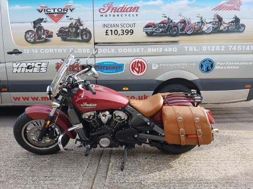 Luggage Rack for Indian Scout by Moore Speed Racing