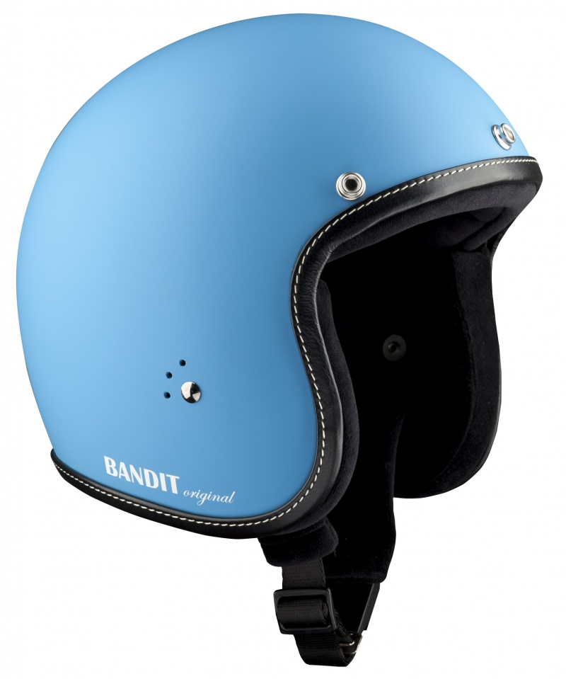 Bandit Jet Premium Matt Blue Open Face Motorcycle Helmet
