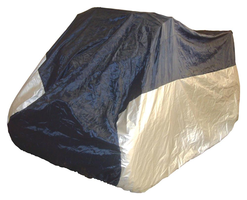 Bike It ATV Rain Cover - Black/Silver - Small Fits 50cc-250cc