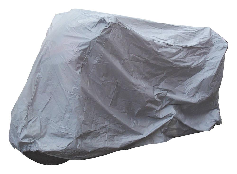 Bike It Motorcycle Standard Rain Cover - Grey - Medium Fits Up To 600cc