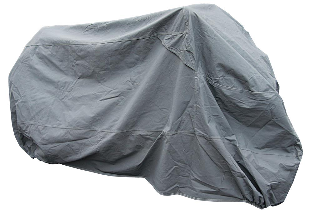 Bike It Premium Motorcycle Rain Cover - Grey - Large Fits 750-1000cc