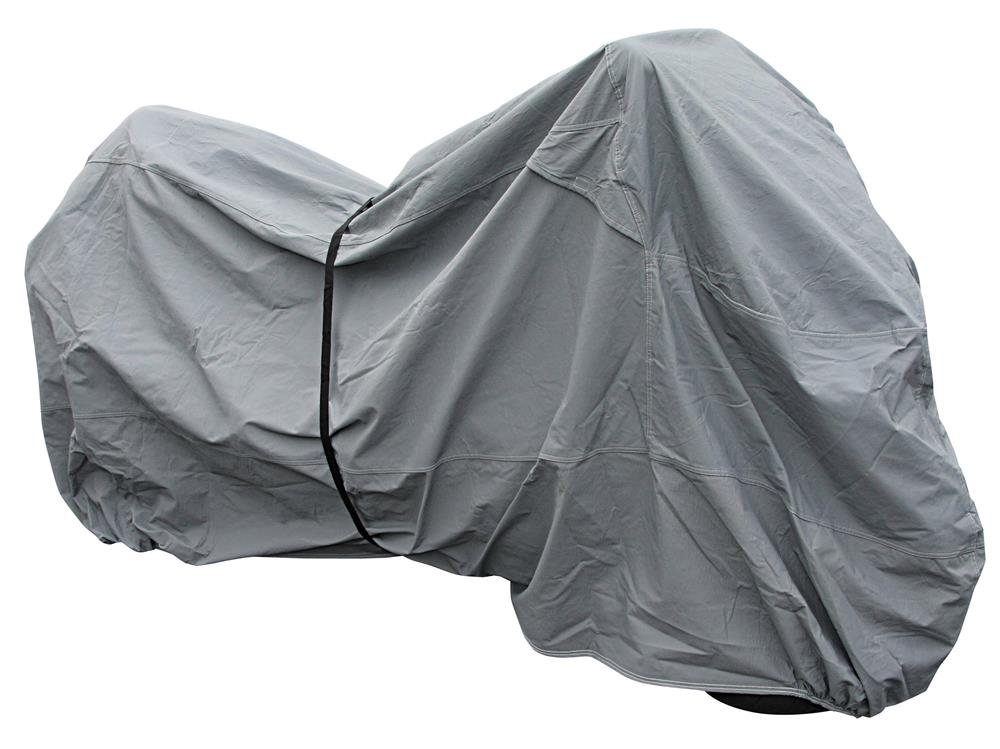 Bike It Premium Motorcycle Rain Cover - Grey -  Medium Fits Up To 600cc