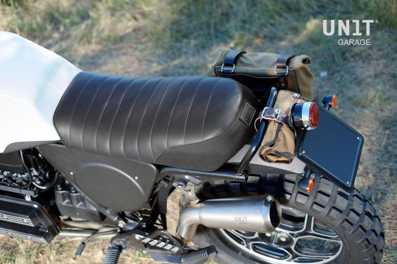 Details about Unit Garage Seat Leather and Canvas Combo for BMW K75 and K100