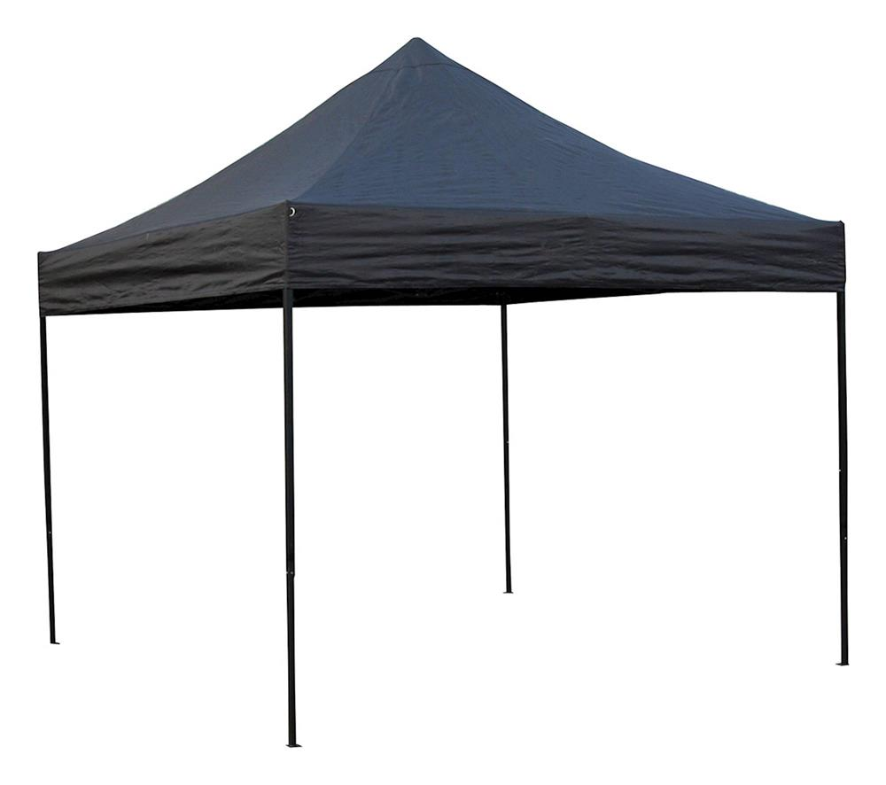 Bike It Quick-Up Gazebo 3m x 3m Steel Frame Without Walls - Black