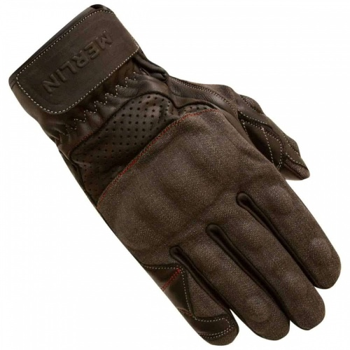 Merlin Maple Leather Grey/Black Glove