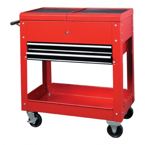 Bike It Mobile Workstation With Roll Top/ 2 Drawers/ Top Chest And Lower Shelf